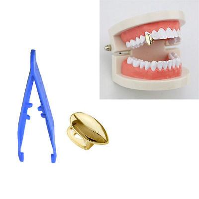 1x 14k Golden single Fang Vampire Teeth Canine Cap Grillz Hip Hop Dracula Tooth](Vampire Teeth Caps)