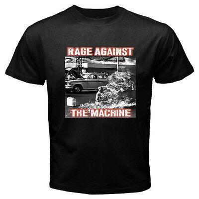 New RAGE AGAINST THE MACHINE RATM '92  Rock Band Men's Black T-Shirt Size S-3XL