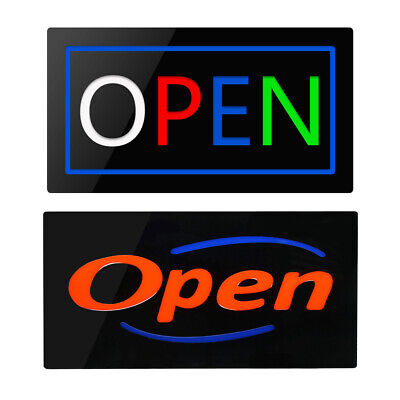 Open Sign Led Lighted Flashing Animated Business Bar Store Restaurant Display