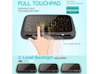 H18+ 2.4G Mini Wireless Keyboard Full Touchpad Mouse for Windows Android TV BOX@
