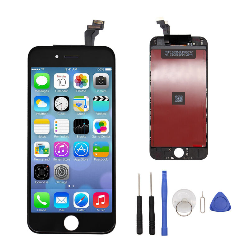 """For iPhone 6 4.7"""" Black Display Touch Screen Digitizer LCD Replacement Assembly"""