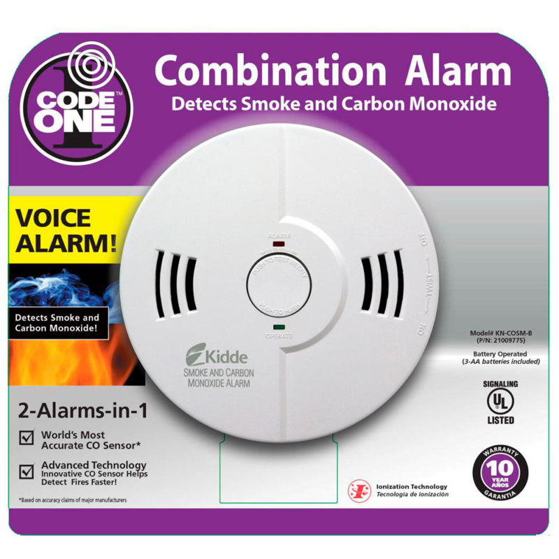 Battery Operated Smoke and Carbon Monoxide Combination Detec