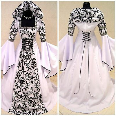 Medieval Victorian Renaissance Gothic Wedding Dress Vampire Cosplay Costume Hot](Renaissance Vampire Costume)