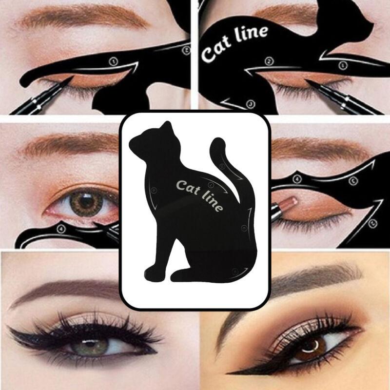 2pcsbag Makeup Cat Eye Eyeliner Stencil Eyeliner Stencil Models