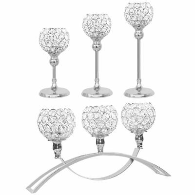 Pillar Candle Holder Centerpiece - Crystal Votive Pillar Candle Holder Candlestick Candelabra Wedding Centerpieces