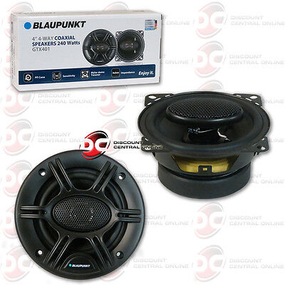 "BRAND NEW BLAUPUNKT 4"" 4-WAY CAR AUDIO COAXIAL SPEAKERS (PAIR) 480W MAX"