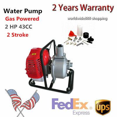 2hp 43cc Gas Powered Water Pump Flood Irrigation Portable Water Transfer Pump