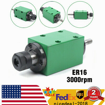 Er16 Spindle Unit 3000rpm Power Head 4 Bearing For Cnc Drill Milling Machine Us