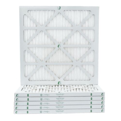 """1"""" Inch Glasfloss ZL MERV 10 Pleated Air Filters for AC & Furnace.  6 Pack"""