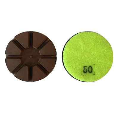 3 50 Grit Metal Bond Diamond Polishing Pad For Concrete Floor 3pcs