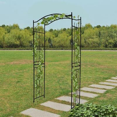 Metal Decorative Backyard Arch Garden Outdoor Arbor For Climbing Plants - 230CM
