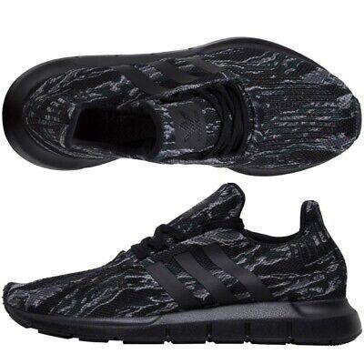 Adidas Originals Swift Run Trainers Camo Tiger Stripe Black Grey Shoes All Sizes