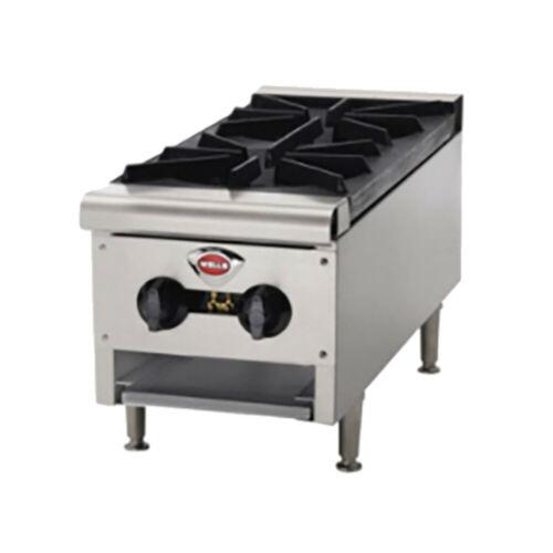 Wells Hdhp-1230g 2 Burner Natural Gas Countertop Hot Plate