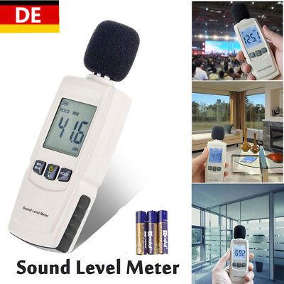 Digital Schallpegelmesser Dezibel Schallpegelmessgerät Geräuschpegel 30~130dB