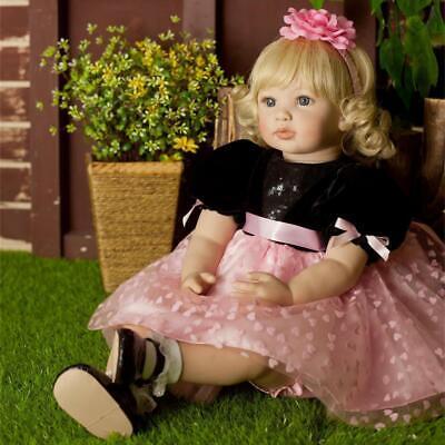 """24"""" Realistic Toddler Dolls Girl Reborn Baby Dolls Soft Body Reborn Dolls Cute"""