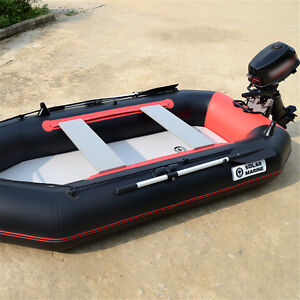 3 person Inflatable Dinghy Boat  Anti Corrosive PVC+Oars +Pump Kit +Motor Mount