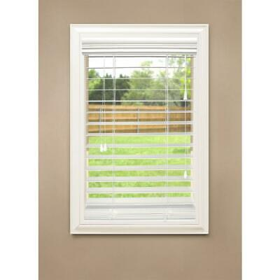 HDC White 2-1/2 in. Premium Faux Wood Blind - 35 in. W x 84 in. L  2 Premium Faux Wood Blinds