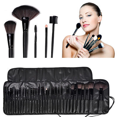 Купить professional makeup brush set 32 makeup brush set - 32pcs Professional Cosmetic Soft Eyebrow Shadow Makeup Brush Set Kit +Pouch Case