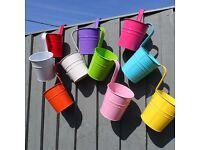 Aidoo 10x Metal Iron Hanging Flower Pots Balcony Garden Pots Planters Wall