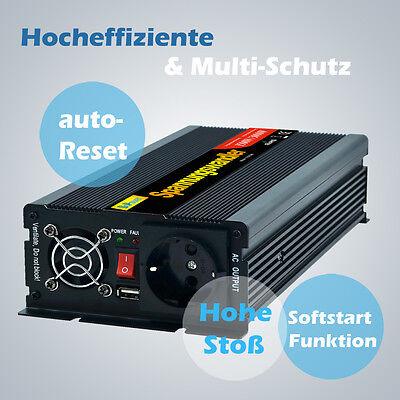 Spannungswandler 1500W 3000 Watt 12V auf 230V Wechselrichter Inverter mit USB