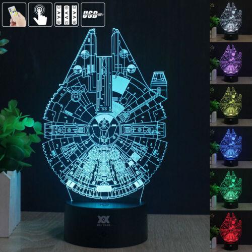 3d acryl led 7 farbe tischleuchte tischlampe nachttischlampe leselampe geschenk ebay. Black Bedroom Furniture Sets. Home Design Ideas