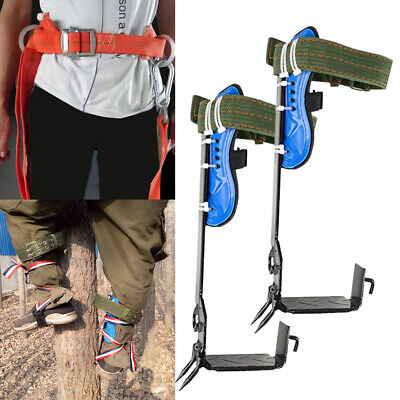 Adjustable 2 Gears Tree Climbing Spike Spurs Safety Belt Straps Rope Anti-rust
