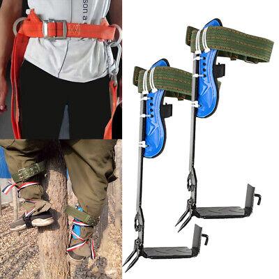 Adjustable 2 Gears Treepole Climbing Spike Spurs Safety Belt Straps Rope Usa