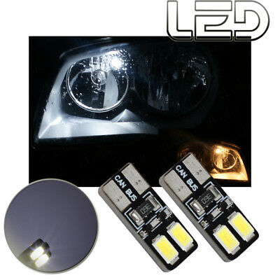2 ampoules veilleuses position led blanc xenon anti erreur odb golf  4 5 6 7