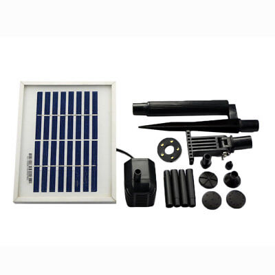 ASC 1.6 Watts Solar Water Pump Battery/Timer Kit with LED Lights Garden Pond