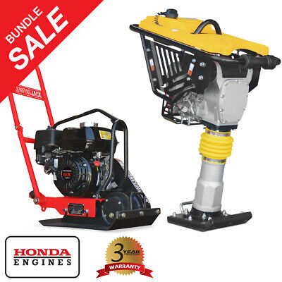 Jumping Jack Vibratory Rammer And Plate Compactor Honda Engine Compaction Bundle