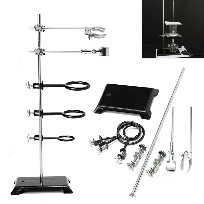 """24""""/60CM Laboratory Stand Support Lab Flask Clamps Clips Condenser Support Ring"""