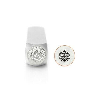 6mm Sacred Heart Corazon Metal Stamp Design | ImpressArt | Love Steel -