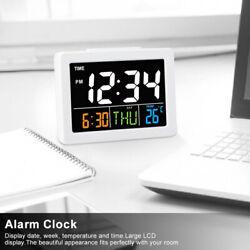 1 X Electric Digital Alarm Clock Big LCD Time Date Week Temperature Calendar