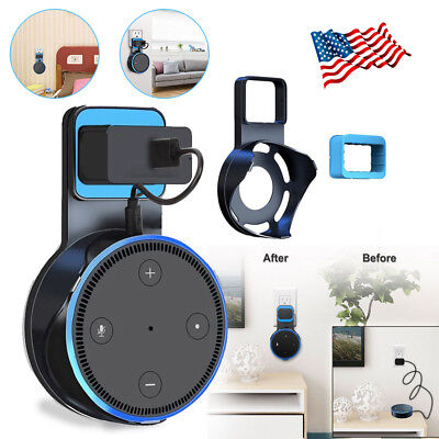 For Amazon Echo Dot 2Nd Generation Outlet Wall Mount Hanger Holder Stand Bracket