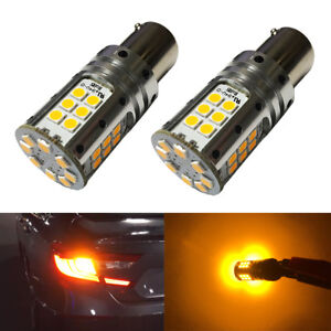 No Hyper Flash Amber 1156 7507 PY21W LED Turn Signal Light For 2018 2019 Accord