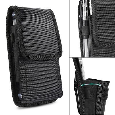 Mobile Phone Holster - Belt Clip Vertical Holster Pouch Carrying Case For Apple/Samsung Large CellPhone