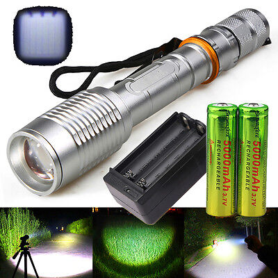 Ultrafire 10000LM 5Modes CREE XM-L T6 LED Flashlight 18650 Outdoors+Charger USA