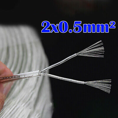 Flexible Transparent Electrical Cable Copper 2x0.5mm Flexible Wire Cable Pvc