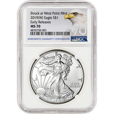 2019-(W) American Silver Eagle - NGC MS70 - Early Releases - Grade 70