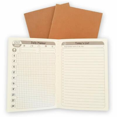 Sovereign Gear - Travelers Journal Daily Planner Refill - 3 Pack - 5 X 3.5