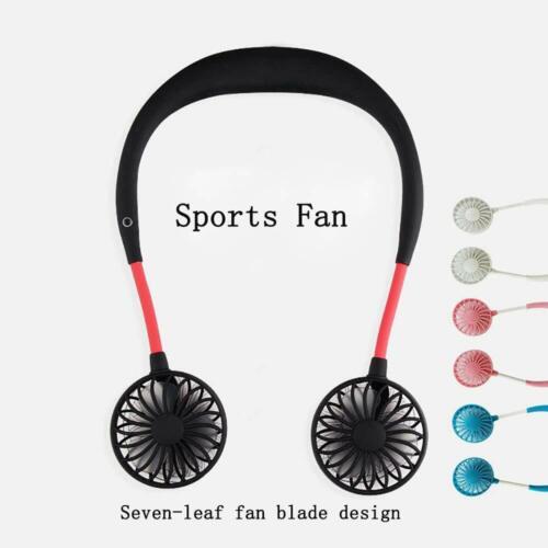 Portable Mini USB Neckband Fan Hand Free Personal FanRecharg