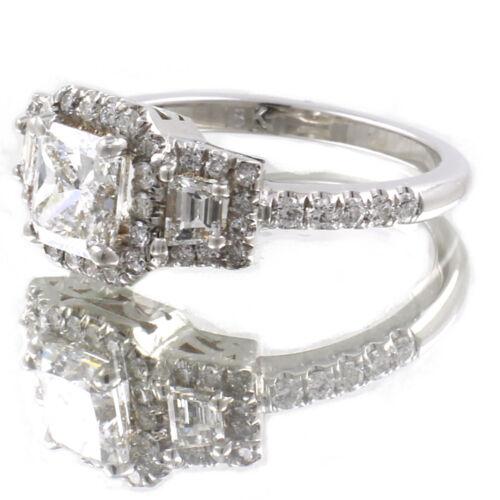 GIA Certified Radiant Cut Diamond Engagement Ring 2.26 Carat 18k White Gold 2