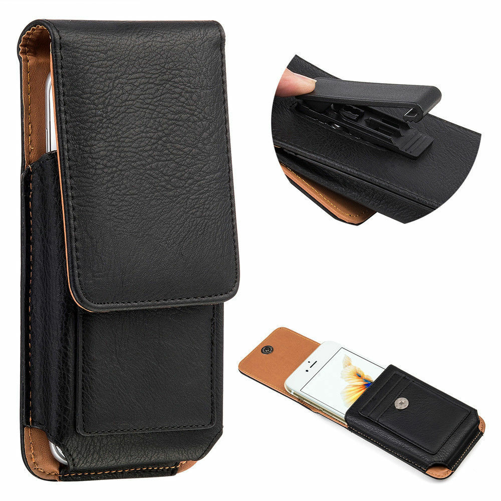 Black Vertical Case Belt Clip Holster for LG V50 ThinQ /Huaw