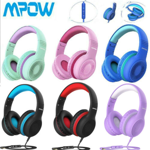 Mpow Kids Headphones Volume Limited Hearing Protection Headset Earphone With Mic - $18.04