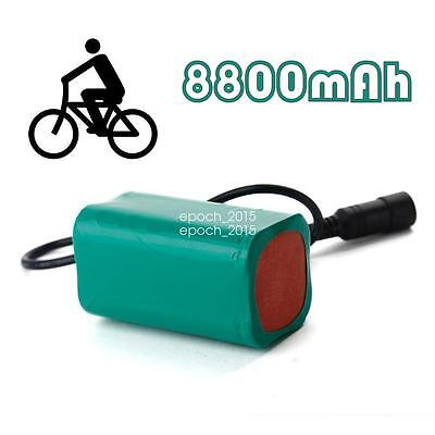 8800mAh Bicycle Light Battery Pack Replacement Power for CREE LED T6 Bike Lamp