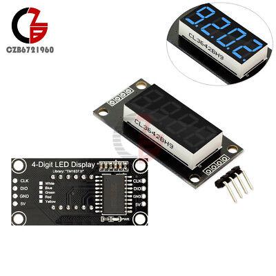 0.36 Tm1637 4-bit 7-segment Tube Led Digital Display Module Blue For Arduino