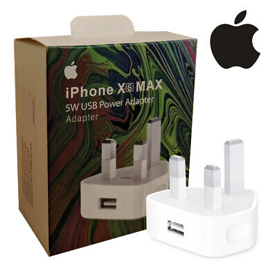 Genuine Apple Wall Charger Plug  For iPhone X XS XMAX 8 7 6 5S iPad BOXED
