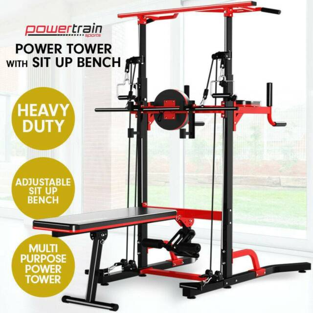 Power Tower Chin Up Dip Pull Bar Multistation Home Gym