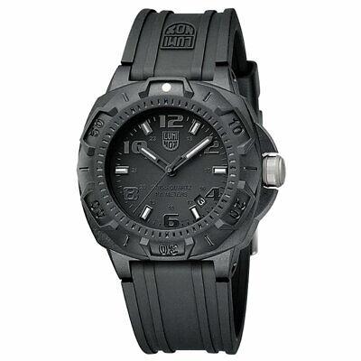 Luminox Men's Watch Sentry 0200 Series Black Dial Silicone Rubber Strap 0201.BO