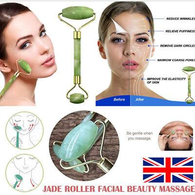 Jade Massage Roller Guasha Tool Body Neck Face Eye Anti Ageing Facial Massager